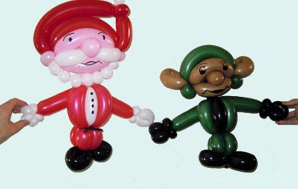 Дед Мороз тело из шариков