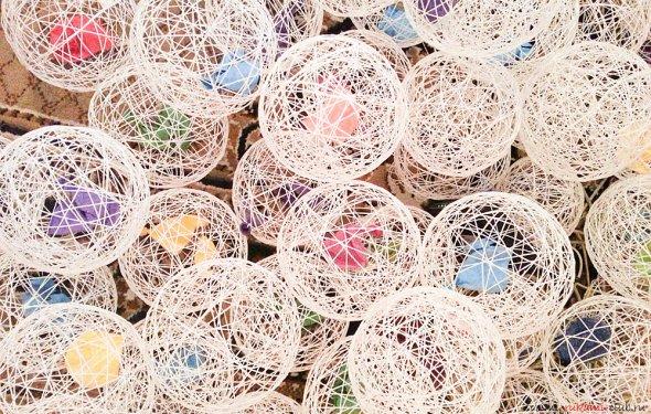 Изготовление шариков-паутинок