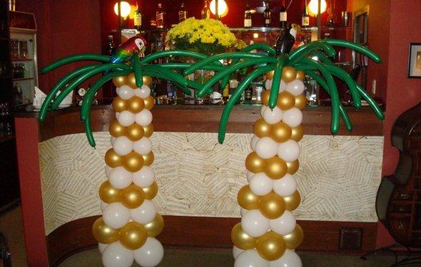 Интересные пальмы из шариков