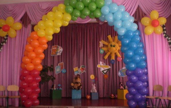 Как украсить праздник шарами