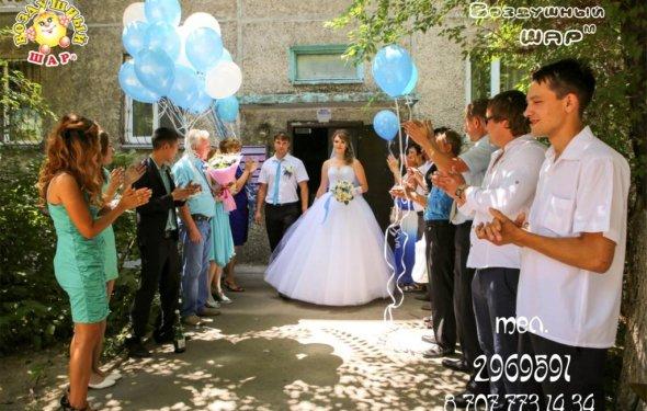 Оформление шарами свадеб