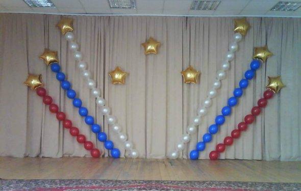 Оформление шарами выпускного